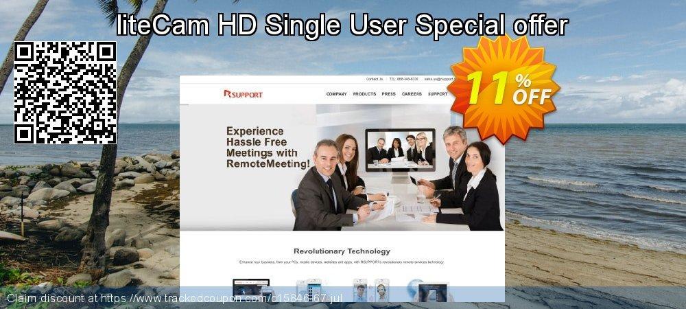 Get 10% OFF liteCam HD Single User Special offer offering sales