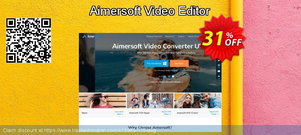 Get 30% OFF Aimersoft Video Editor offer