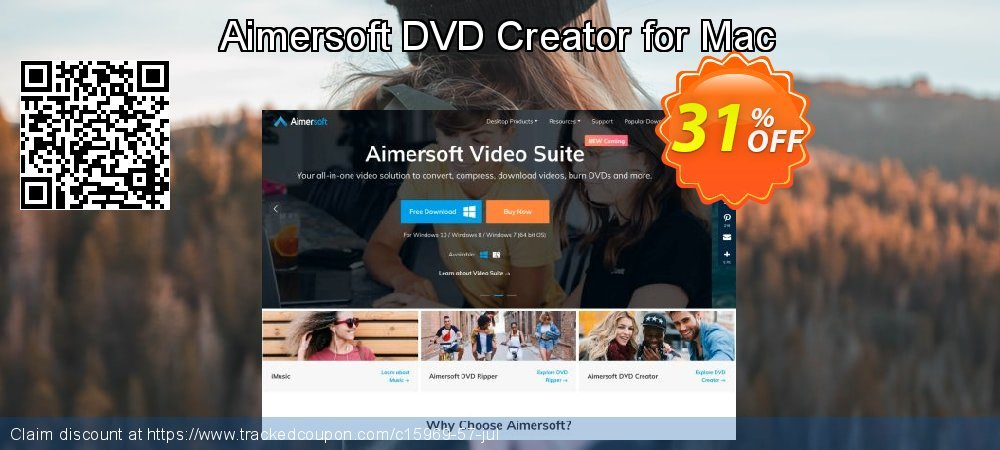 Get 30% OFF Aimersoft DVD Creator for Mac offering sales