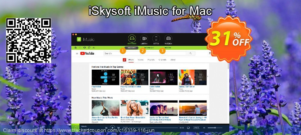 Get 20% OFF iSkysoft iMusic for Mac offering sales