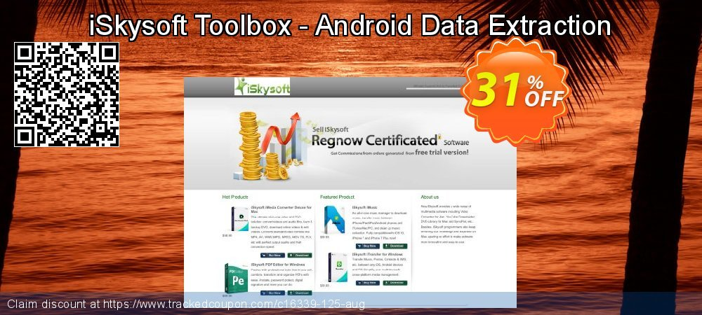 Get 20% OFF iSkysoft Toolbox - Android Data Extraction discount