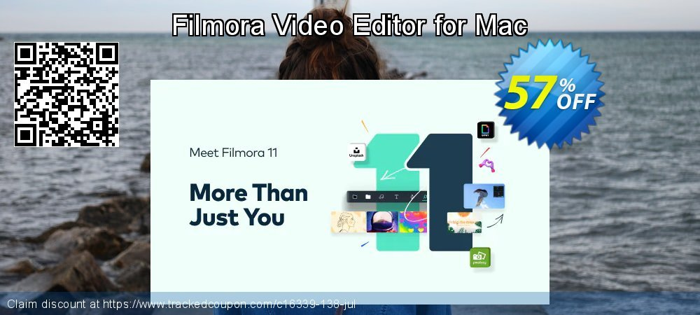 Filmora Video Editor for Mac coupon on Back to School shopping offering sales