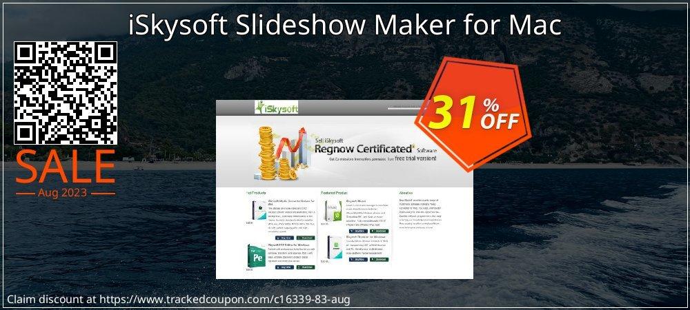 iSkysoft Slideshow Maker for Mac coupon on Black Friday super sale