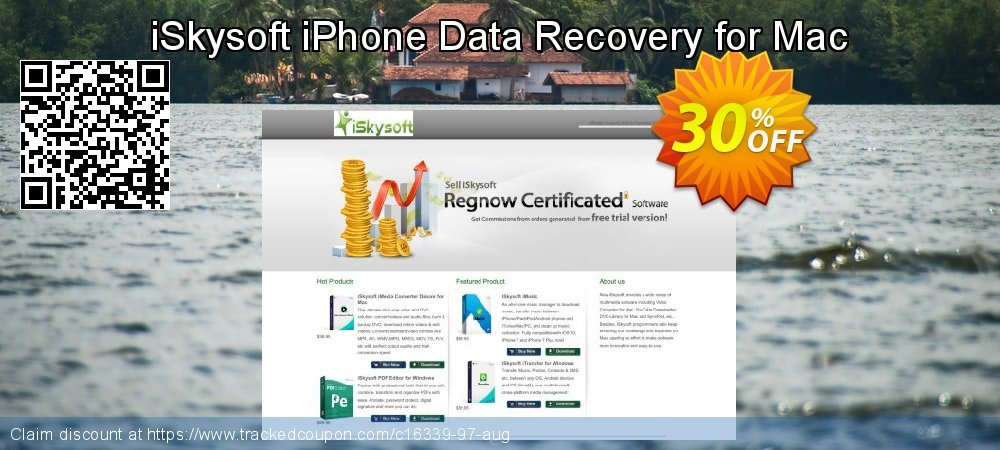 Claim 30% OFF iSkysoft iPhone Data Recovery for Mac Coupon discount July, 2019