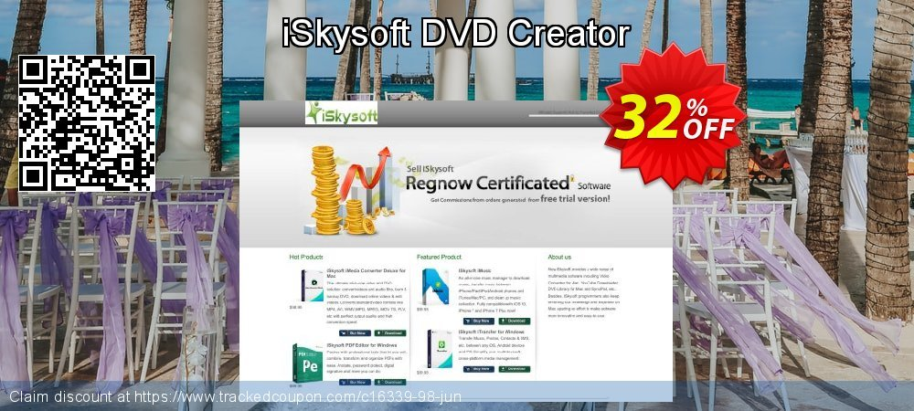 iSkysoft DVD Creator coupon on Back to School promotion sales