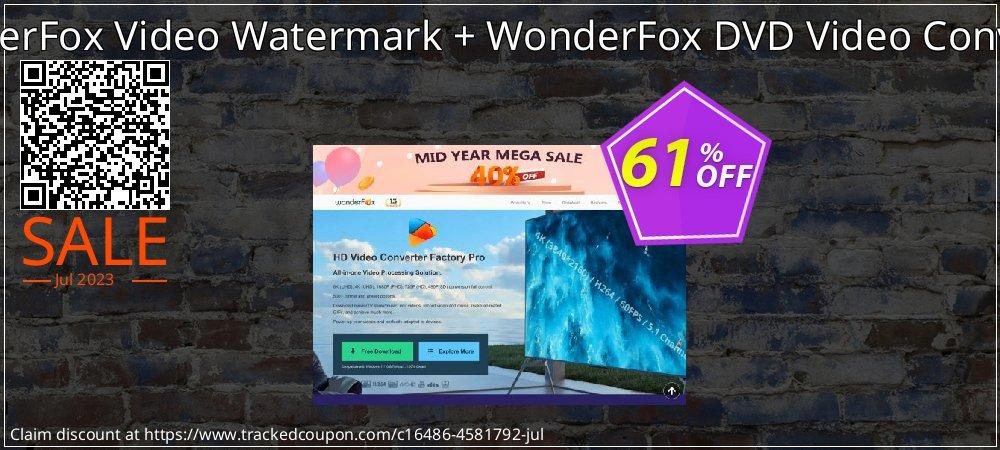 Get 60% OFF WonderFox Video Watermark + WonderFox DVD Video Converter offering sales