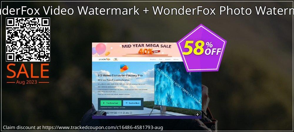 Get 57% OFF WonderFox Video Watermark + WonderFox Photo Watermark offering sales