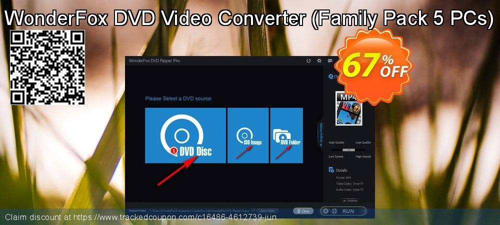 Get 30% OFF WonderFox DVD Video Converter Family Pack (5 PCs) offering discount