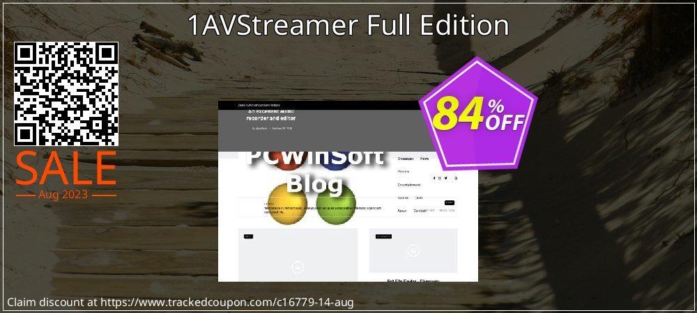Get 84% OFF 1AVStreamer Full Edition offering sales