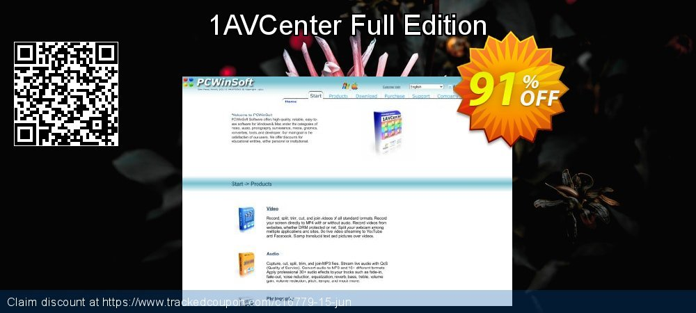 1AVCenter Full Edition coupon on Back to School offer super sale