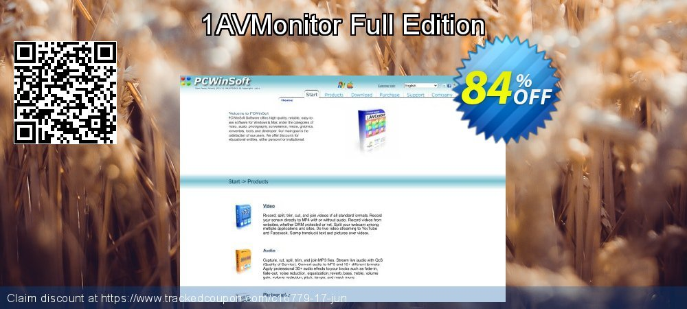 Get 84% OFF 1AVMonitor Full Edition offering sales