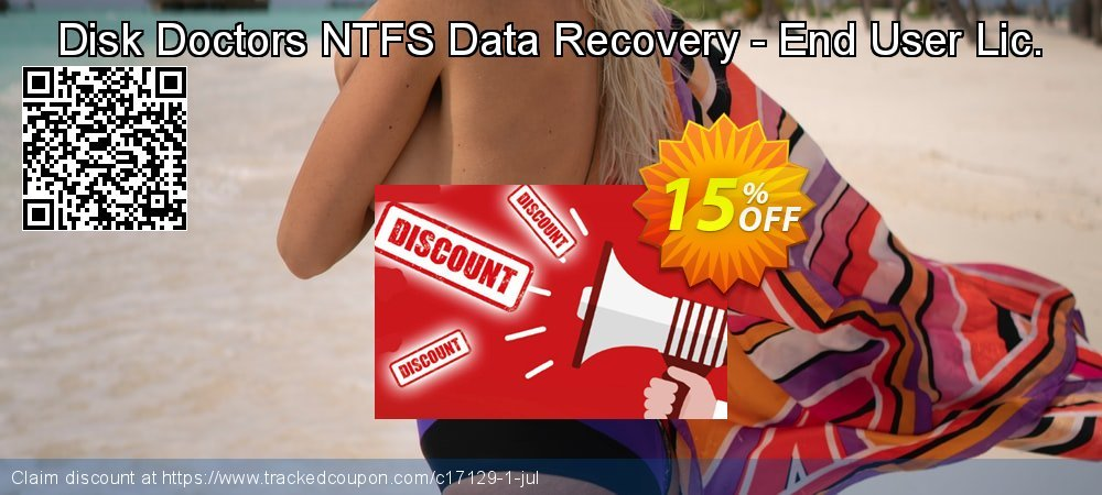 Claim 15% OFF Disk Doctors NTFS Data Recovery - End User Lic. Coupon discount July, 2019