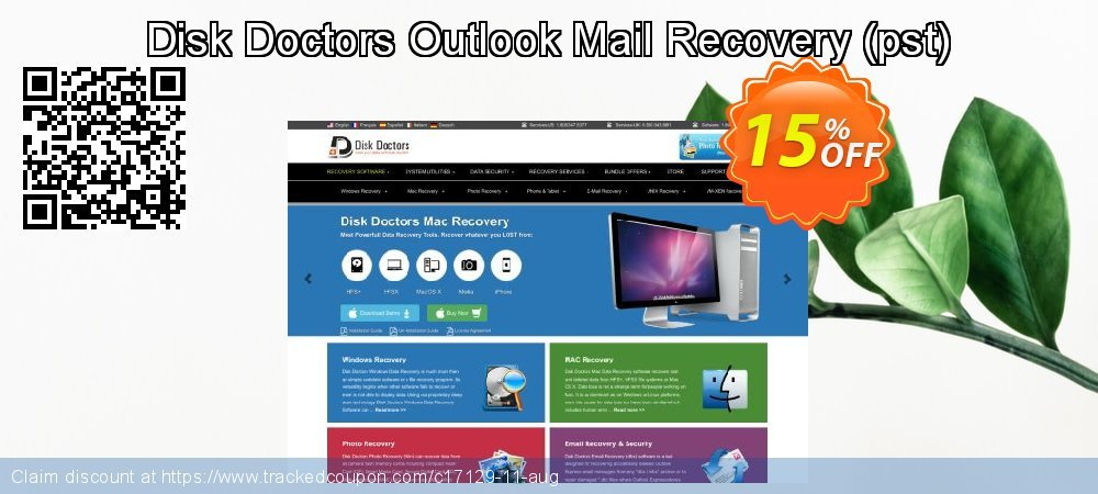 Claim 15% OFF Disk Doctors Outlook Mail Recovery (pst) Coupon discount July, 2019