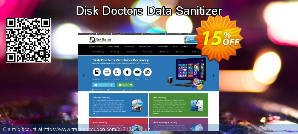 Disk Doctors Data Sanitizer coupon on Back to School promotions offering sales