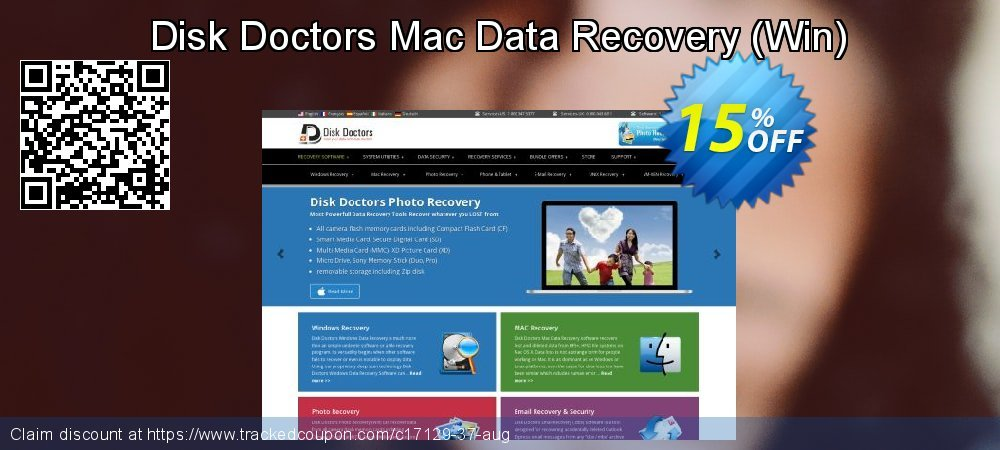 Claim 15% OFF Disk Doctors Mac Data Recovery - Win Coupon discount November, 2019
