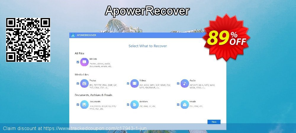 Claim 89% OFF ApowerRecover Coupon discount September, 2020