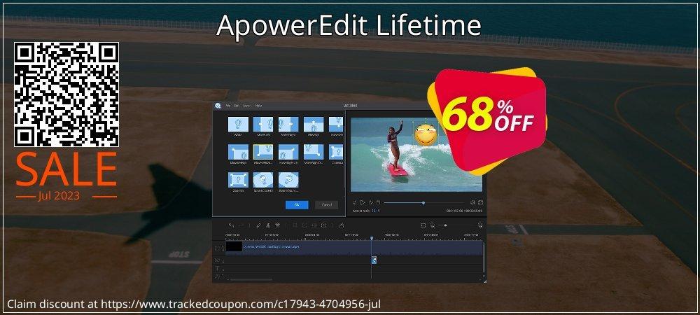Get 68% OFF ApowerEdit Lifetime deals