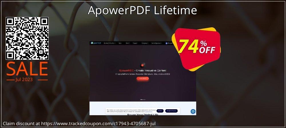 Get 74% OFF ApowerPDF Lifetime offering sales