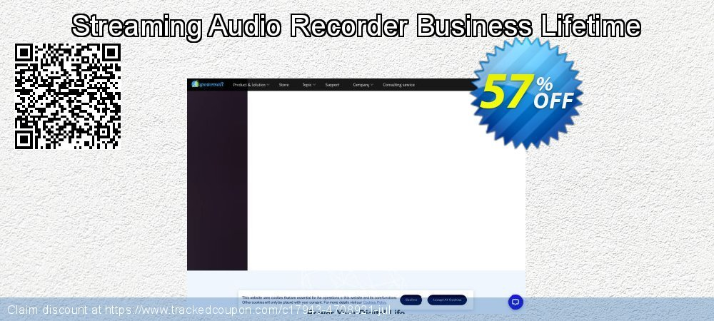 Streaming Audio Recorder Business Lifetime coupon on New Year's Day sales