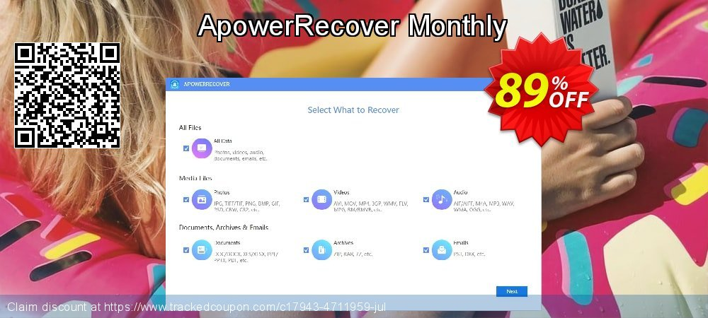 Claim 87% OFF ApowerRecover Monthly Coupon discount September, 2020