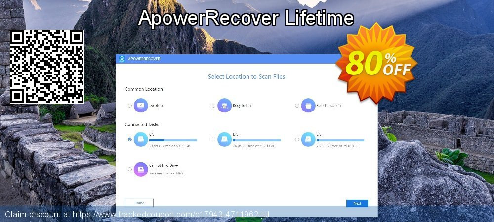 Claim 80% OFF ApowerRecover Lifetime Coupon discount September, 2020