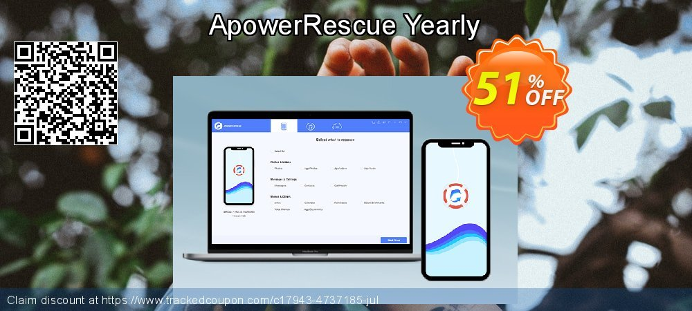 Claim 46% OFF ApowerRescue Yearly Coupon discount March, 2019