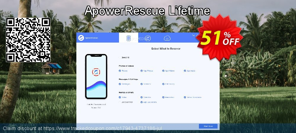 Claim 48% OFF ApowerRescue Lifetime Coupon discount March, 2019