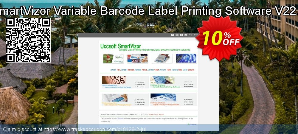 SmartVizor Variable Barcode Label Printing Software V22.0 coupon on Halloween discount