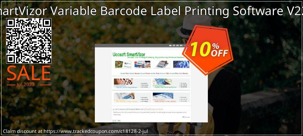 Get 10% OFF SmartVizor Variable Barcode Label Printing Software V22.0 promo sales
