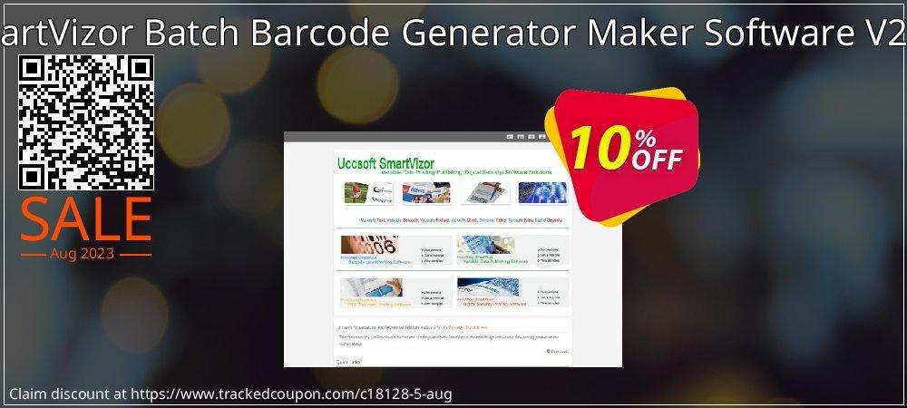Get 10% OFF SmartVizor Batch Barcode Generator Maker Software V22.0 promo