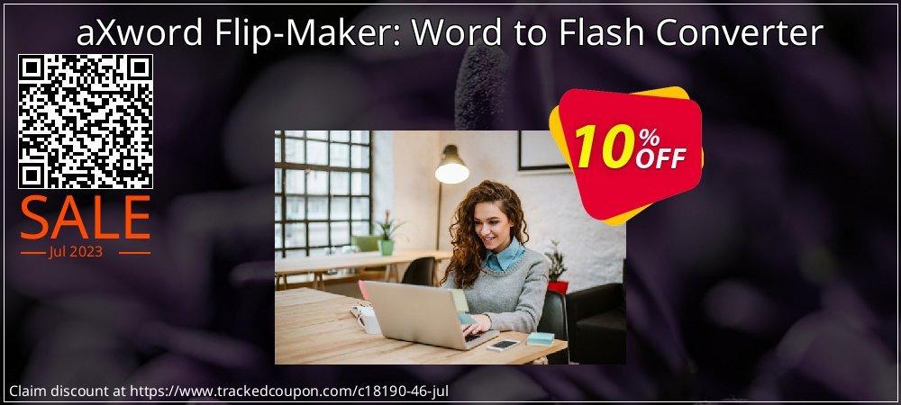 Get 10% OFF aXword Flip-Maker: Word to Flash Converter offering sales