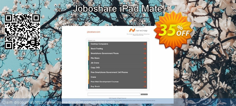 Get 35% OFF Joboshare iPad Mate offering sales
