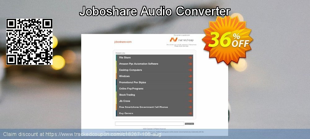 Joboshare Audio Converter coupon on Int. Workers' Day offering sales