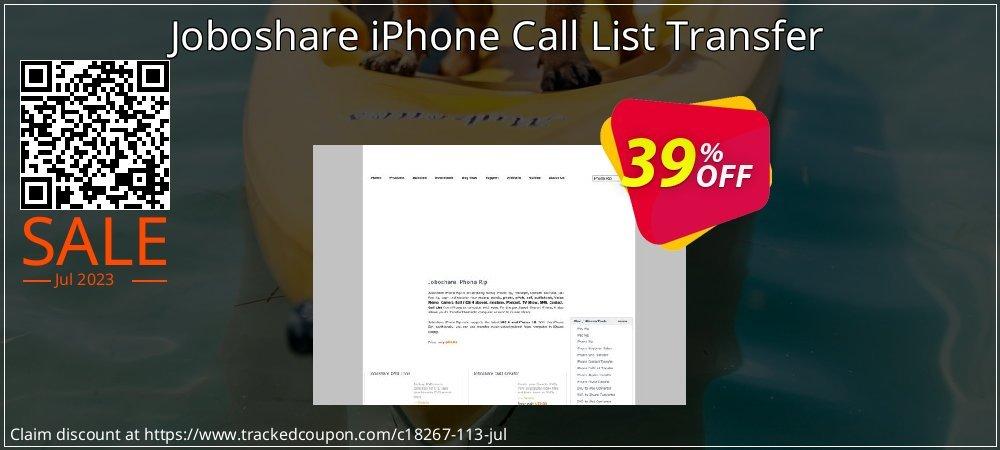 Get 35% OFF Joboshare iPhone Call List Transfer offering sales