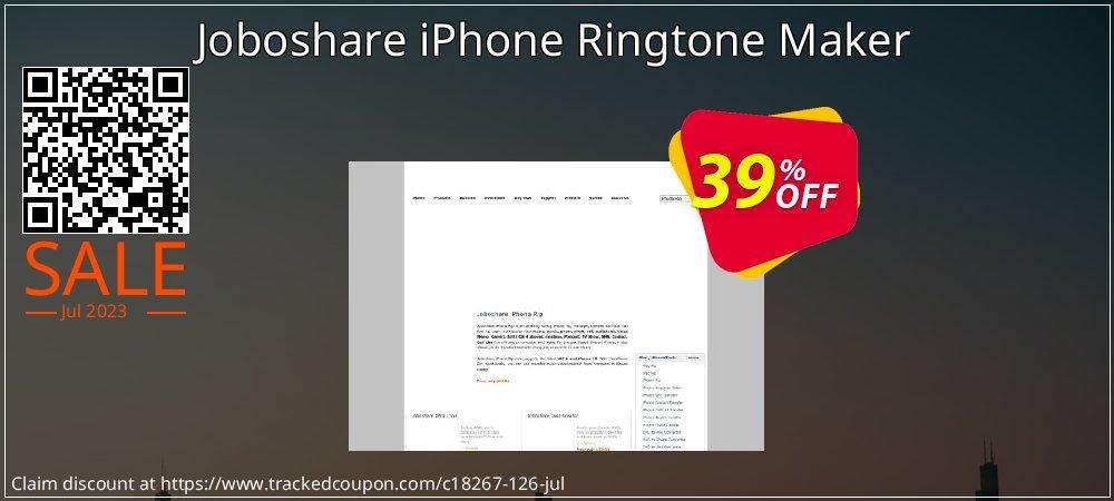 Get 35% OFF Joboshare iPhone Ringtone Maker deals