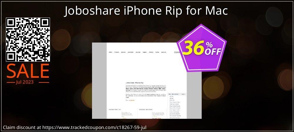 Get 35% OFF Joboshare iPhone Rip for Mac offering sales