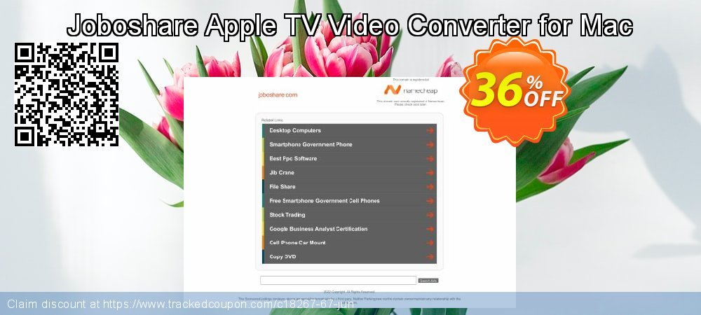 Joboshare Apple TV Video Converter for Mac coupon on May Day sales