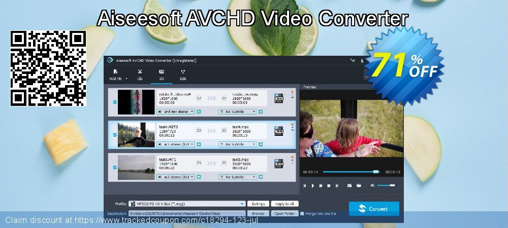 Aiseesoft AVCHD Video Converter coupon on US Independence Day promotions
