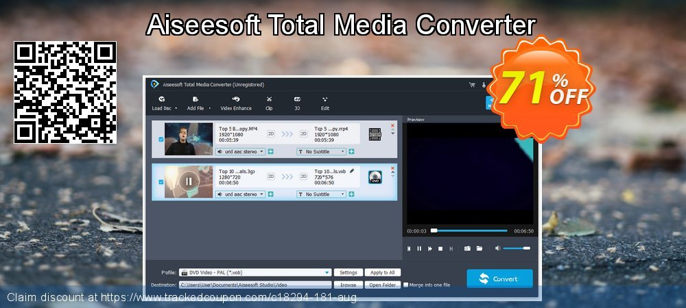 Get 40% OFF Aiseesoft Total Media Converter discounts