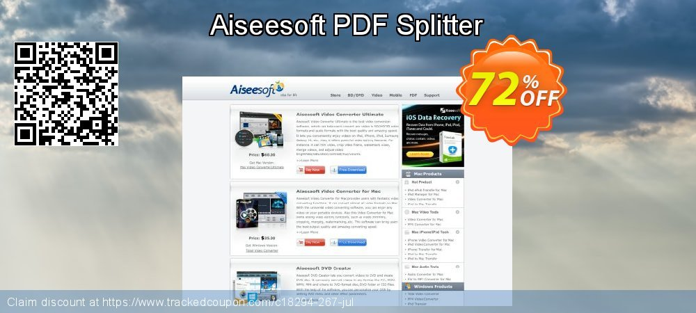 Aiseesoft PDF Splitter coupon on US Independence Day promotions