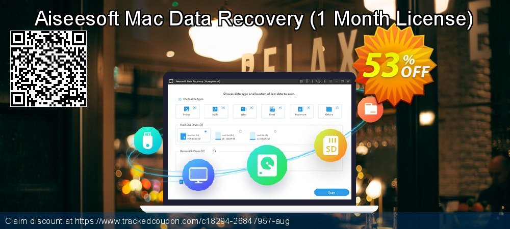 Claim 53% OFF Aiseesoft Mac Data Recovery - 1 Month License Coupon discount August, 2021