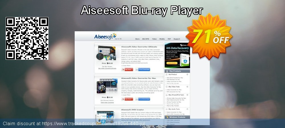 Get 50% OFF Aiseesoft Blu-ray Player offering sales