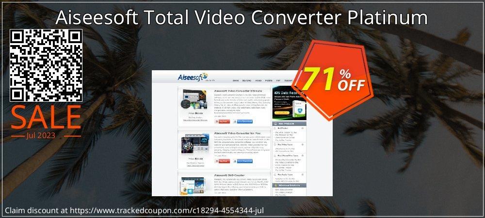 Get 70% OFF Aiseesoft Total Video Converter Platinum offer