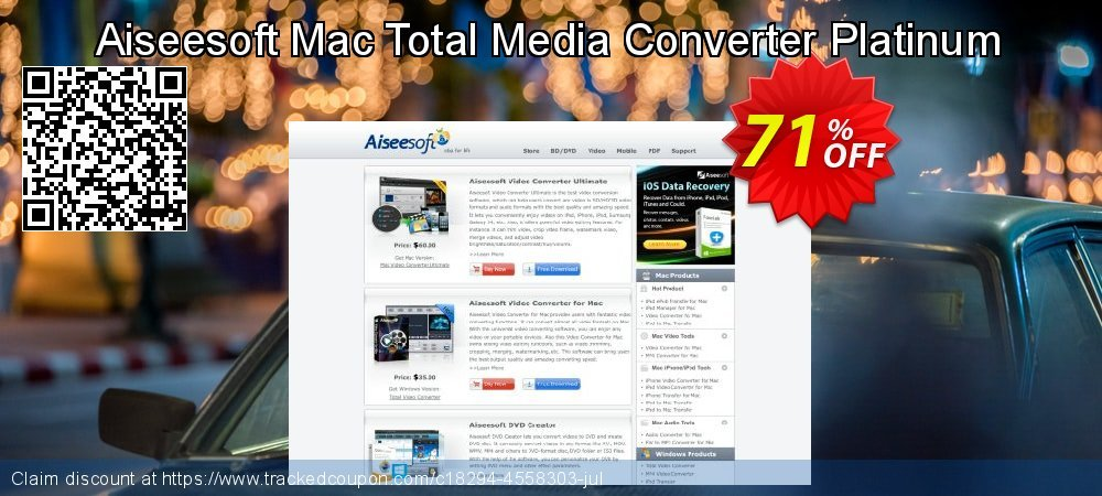 Aiseesoft Mac Total Media Converter Platinum coupon on Read Across America Day promotions