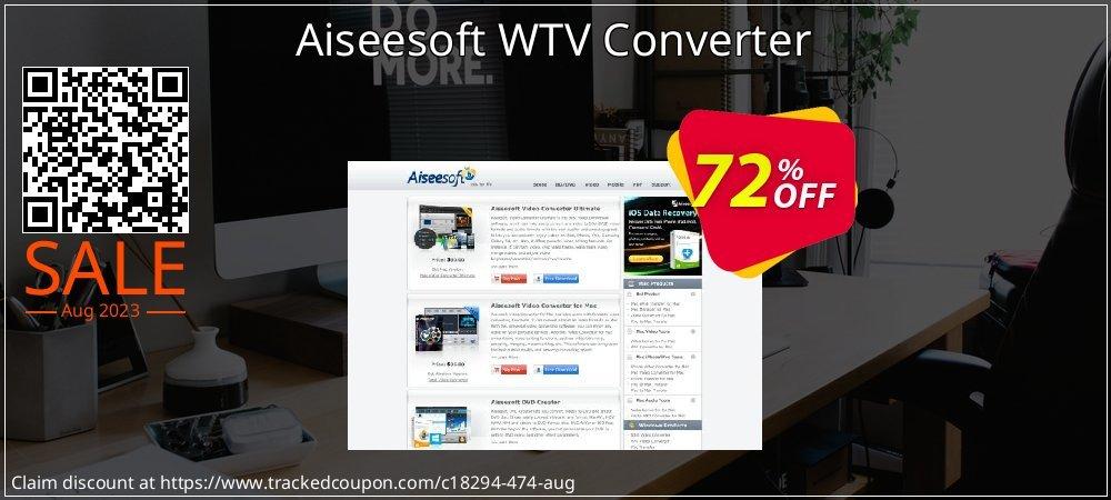 Get 70% OFF Aiseesoft WTV Converter offer