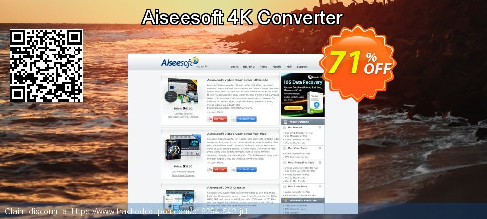 Aiseesoft 4K Converter coupon on July 4th offering discount