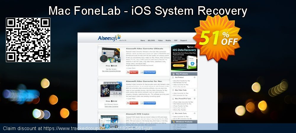 Get 40% OFF iOS System Recovery for Mac discount