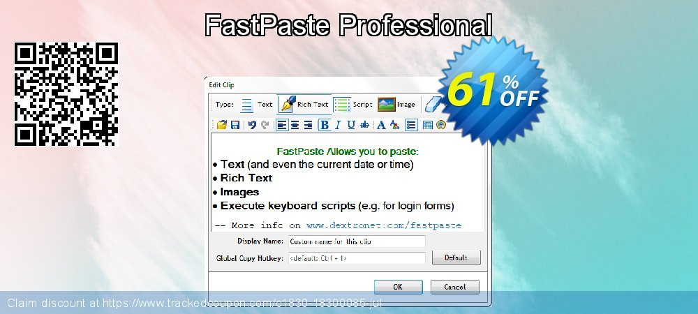 FastPaste Professional coupon on Grandparents Day promotions