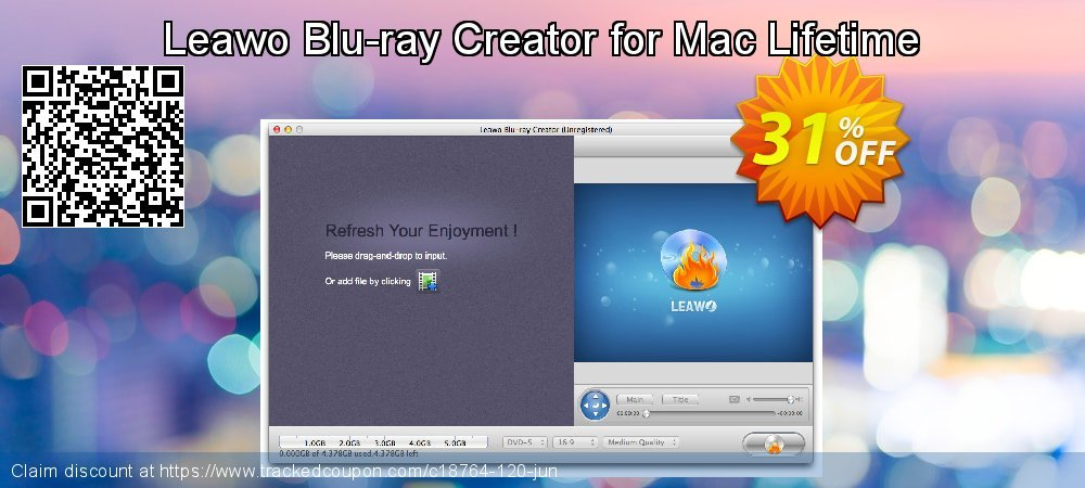 Leawo Blu-ray Creator for Mac Lifetime coupon on Thanksgiving offer