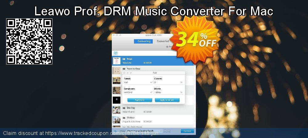 Leawo Prof. DRM Music Converter For Mac coupon on New Year offer
